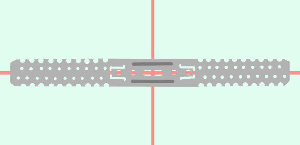 Примерка подвеса для разметки отверстий