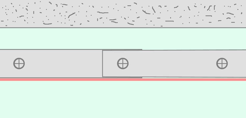 Стыковка направляющего профиля внахлёст