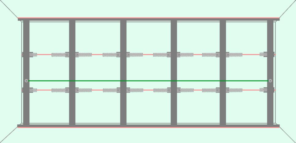 Выравнивание плоскости каркаса с помощью капроновой нити