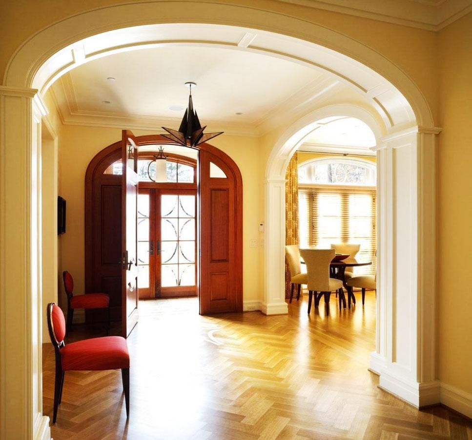 Фото арки из гипсокартона в коридоре