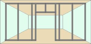 Дверной проём в перегородке из гипсокартона
