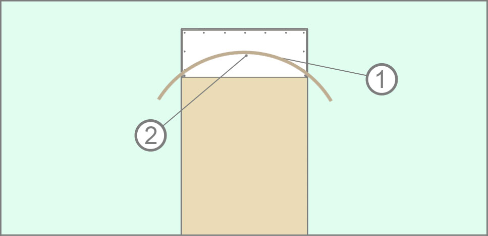 "Разметка дуги арки методом ""Плинтуса"""