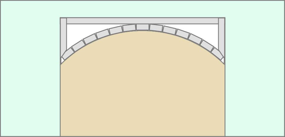 Каркас для арки из профиля, вид с внутренней стороны