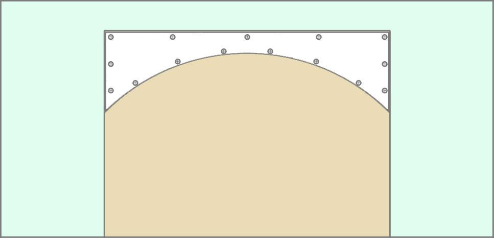 Каркас из профиля для арки из гипсокартона собран