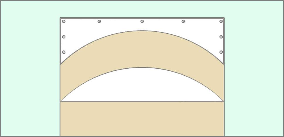 Вырезаем дугу арки в гипсокартоне