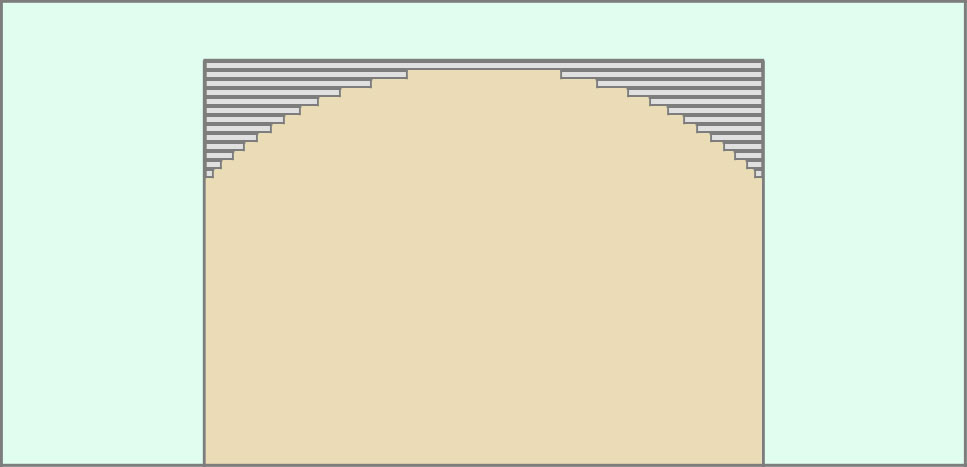 Монтаж арки из гипсокартона наборным методом