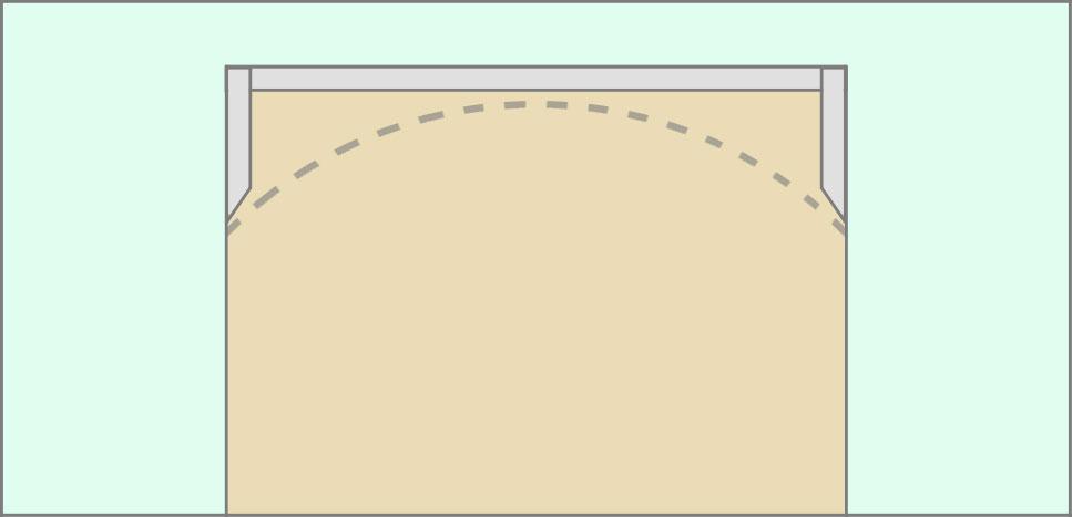 Рамка каркаса из профиля для арки из гипсокартона
