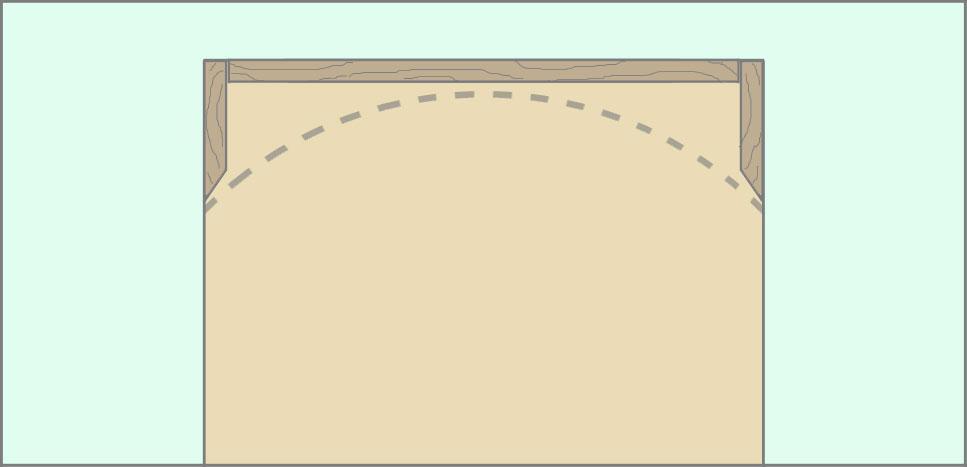 Рамка каркаса из бруса для арки из гипсокартона