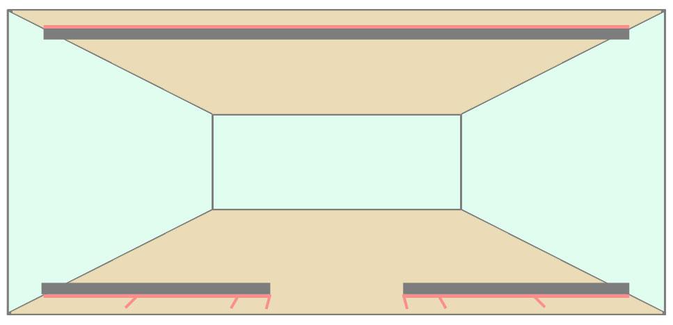 Монтаж направляющего профиля с учётом дверного проёма