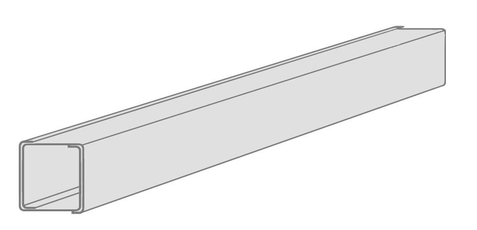 Стойка из двух CW-профилей для дверного проёма