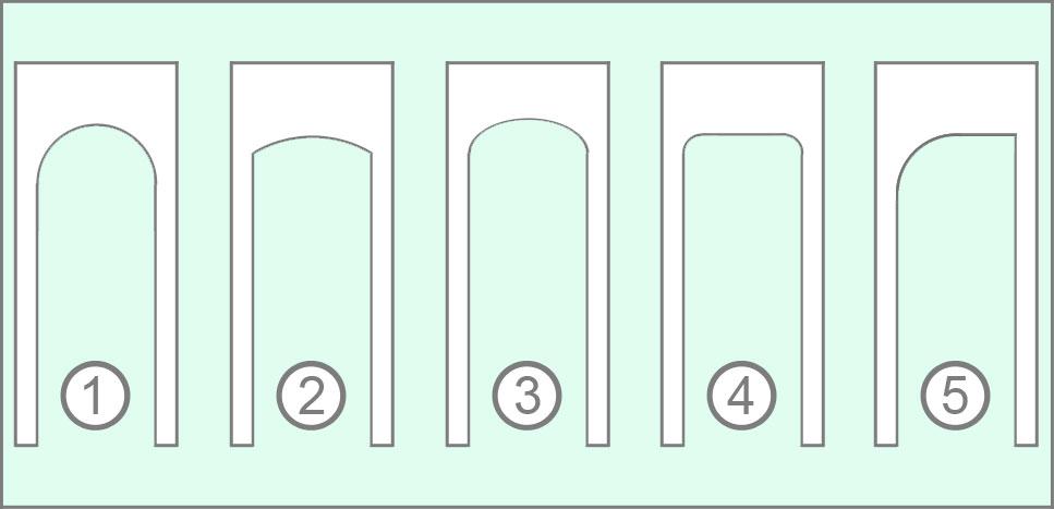ТОП-5 самых распространённых форм арок для дверного проёма